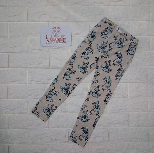 baju bawahan celana kaos legging anak branded motif kartun kiki dan koko rabbit kelinci