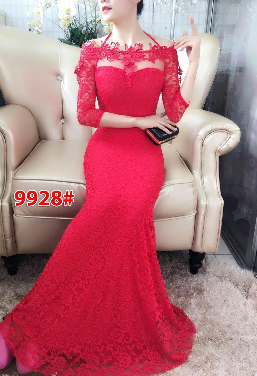9928# baju pesta import  / gaun pesta import / baju pesta brokat / longdress fashion import / gaunpanjang
