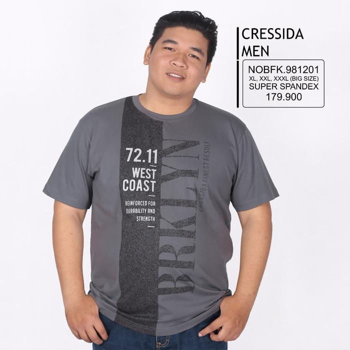 Hot Item!! Kaos Cressida Men Big Size 12 - ready stock