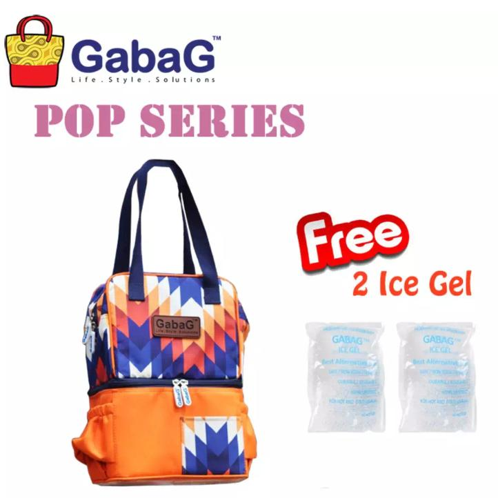 Gabag cooler bag Nuri free 2pc ice gel - coolerbag Nuri - Tas penyimpan asi bayi modis terbaru
