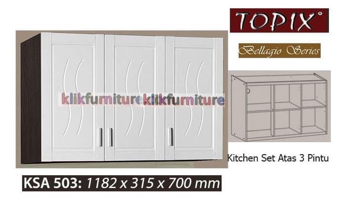 Cabinet Atas Bawah 2 Pintu TPX502 Putih - Jabodetabek Only, Rp 1.600 .
