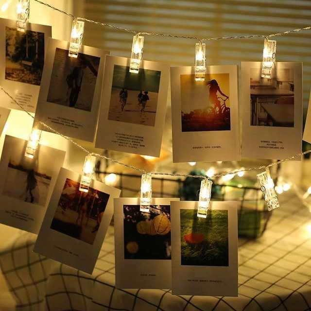 Lampu Hias Dekorasi Clip String 20 LED 2 Meter Warm White / Aneka Lampu Hias Model Terbaru / Lampu Hias Terlaris