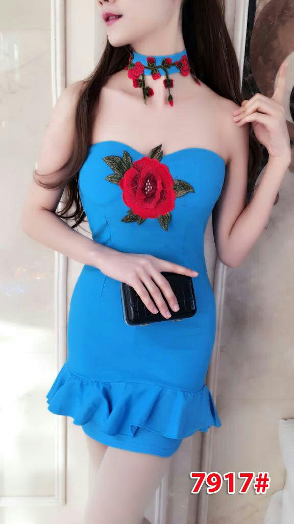 7917# baju pesta import  / dress wanita / dress  pesta / gaun fashion import / gaun kenben seksi