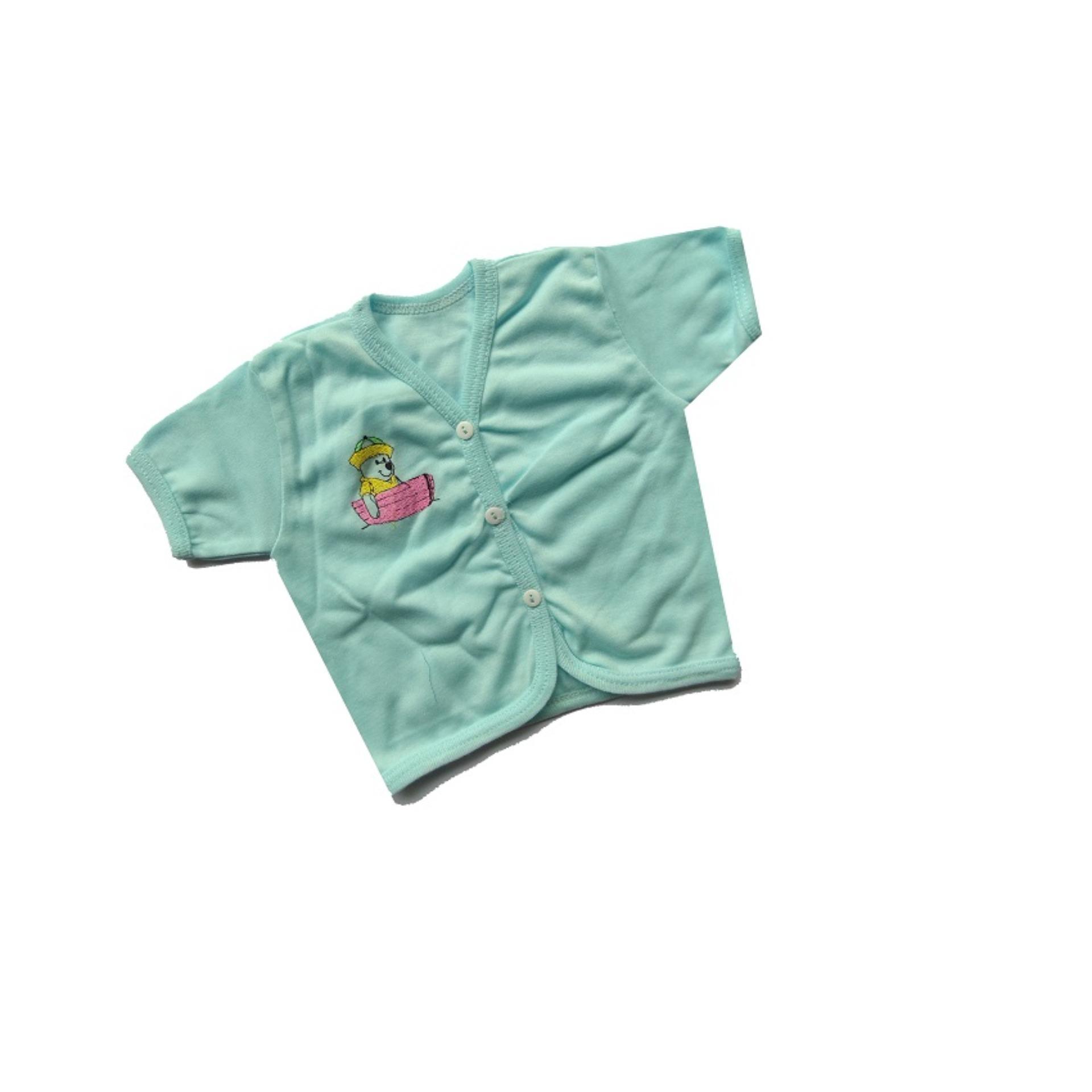 Home Kaos Lengan Pendek Tee 5 In 1 Kancing Pundak Baju Baby Cewek . Source · Baju Bayi Lengan Pendek Warna isi 1 pcs umur 0-6 bulan/baju santai