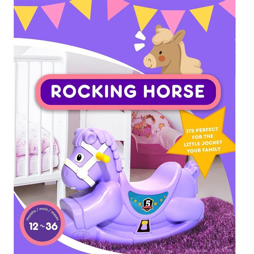 Aa Toys Kc-007 Rocking Horse - Mainan Kuda Kudaan Plastik Tebal By Plasamainan.