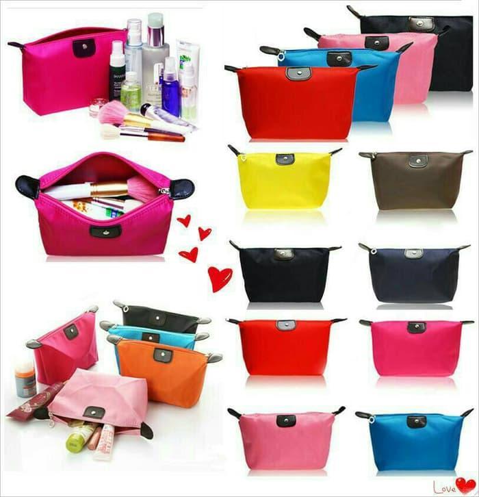 001 Tas Kosmetik Pouch Dompet Tempat Make Up Cosmetic Mini Bag