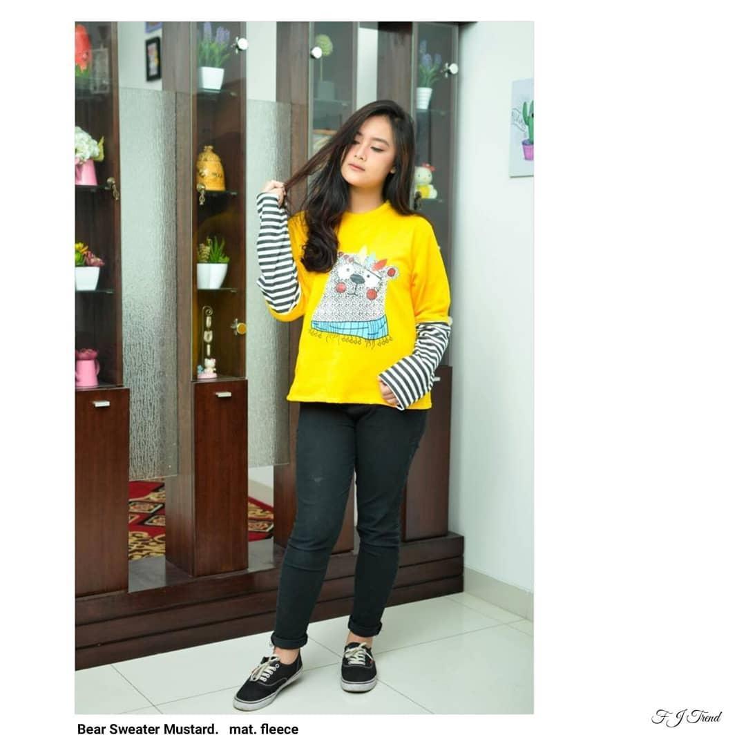 Vrichel Collection Jaket Wanita Bunny & Bear Kuning Daftar Harga Source · Bear Sweater F Jaket Hoodie Sweater Wanita