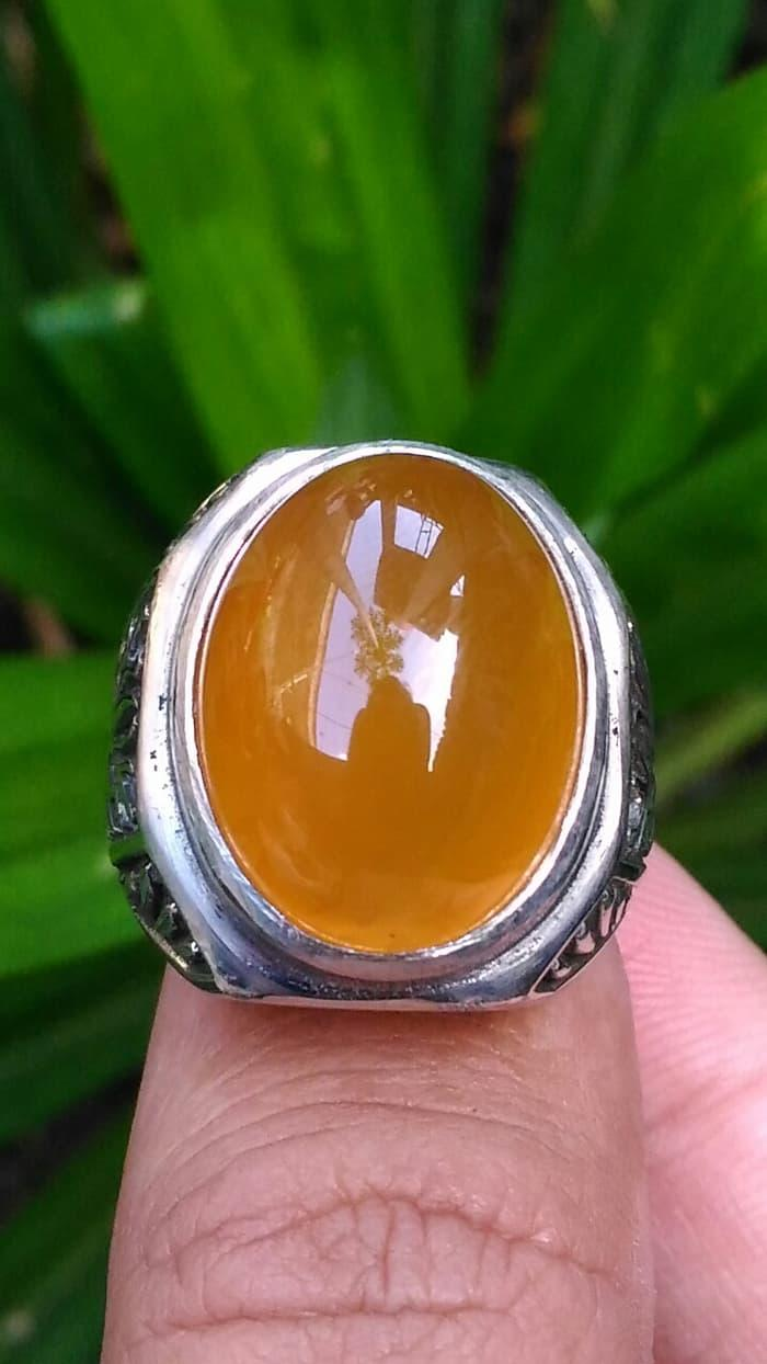 Promo Big Sale Perhiasan Aksesoris Cincin Batu Akik Yellow Sunkist Chalcedony Top Class Garansi Natural By Natural Gemshop.