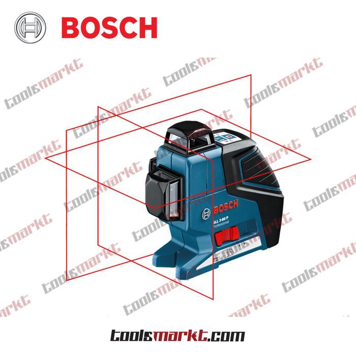 ORIGINAL - Bosch GLL 3-80 P Kit Alat Ukur Garis Titik Line Laser GLL3