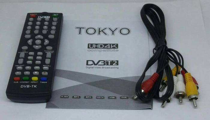 Promo DVB T2 Set Top Box Digital Tv Receiver RINREI DRN-511W original