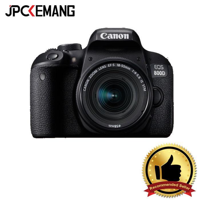 Kamera DSLR Canon EOS 800D with Lensa EF-S 18-55MM F/4-5.6 IS STM jpckemang