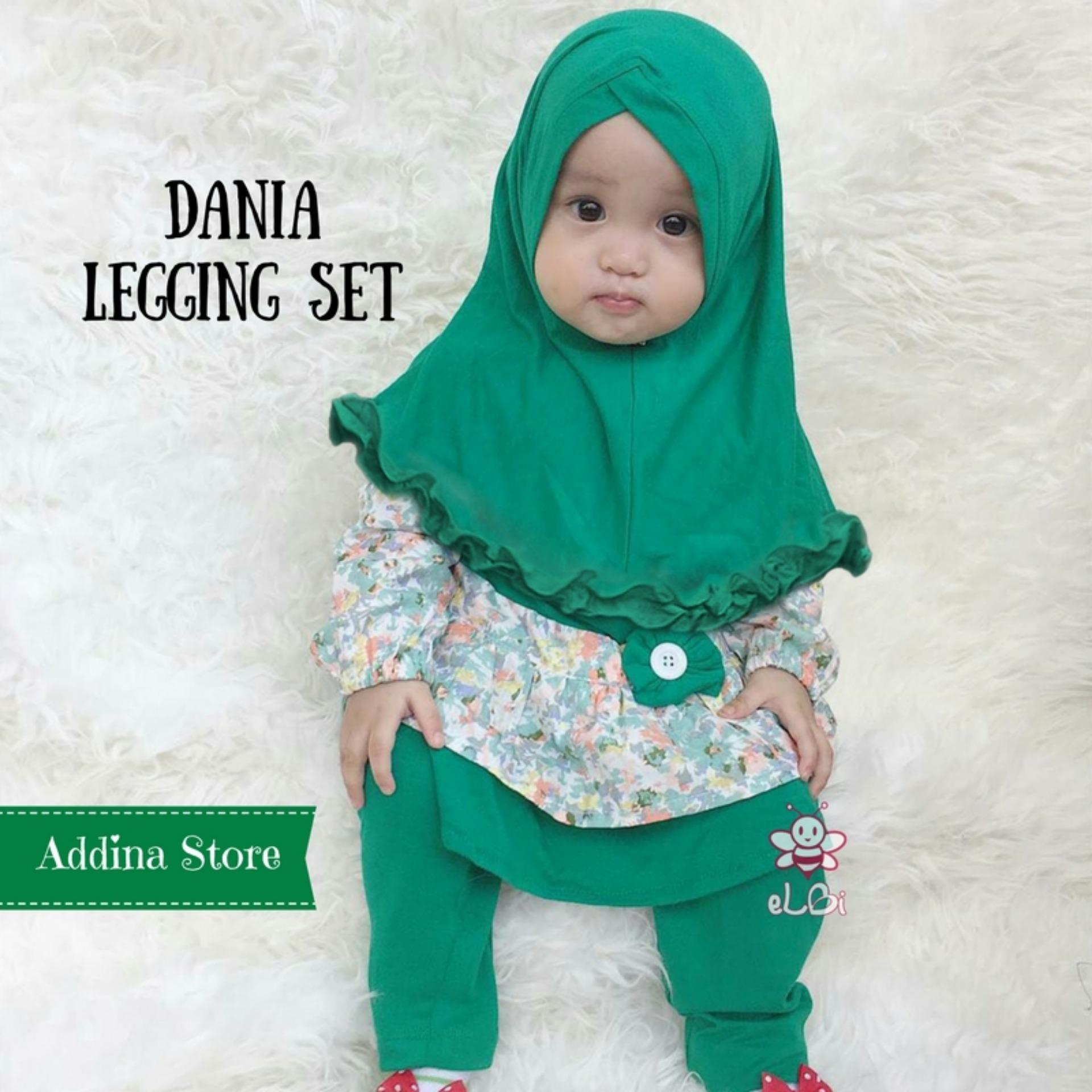 Elbi Dania Legging Set / Baju Anak / Baju Anak Perempuan / Baju Anak Perempuan Muslim / Baju Anak Perempuan Murah / Addina Store