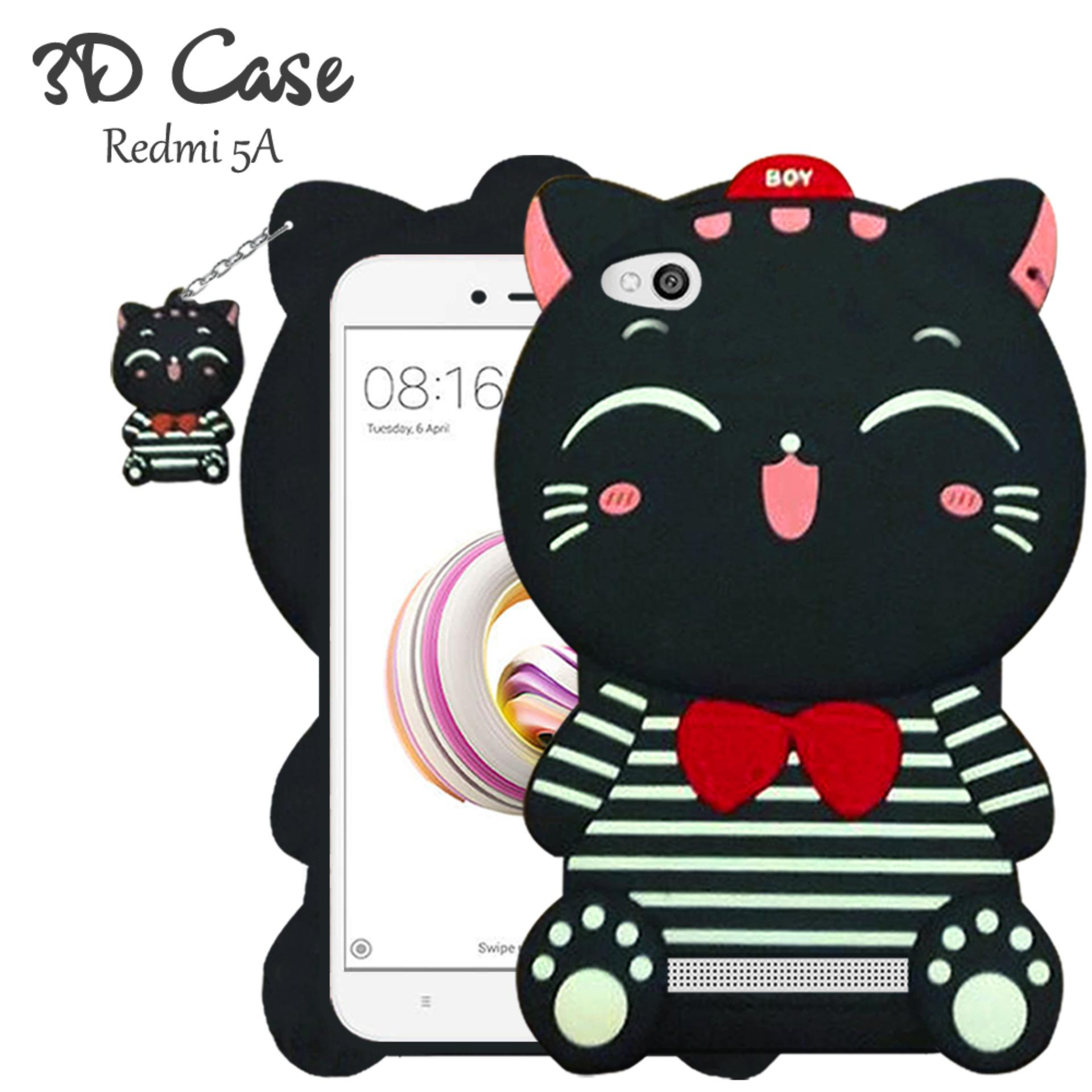 3D Case Xiaomi Redmi 5A Softcase 4D Karakter Boneka Hello Kitty Doraemon Lucu Character Cartoon