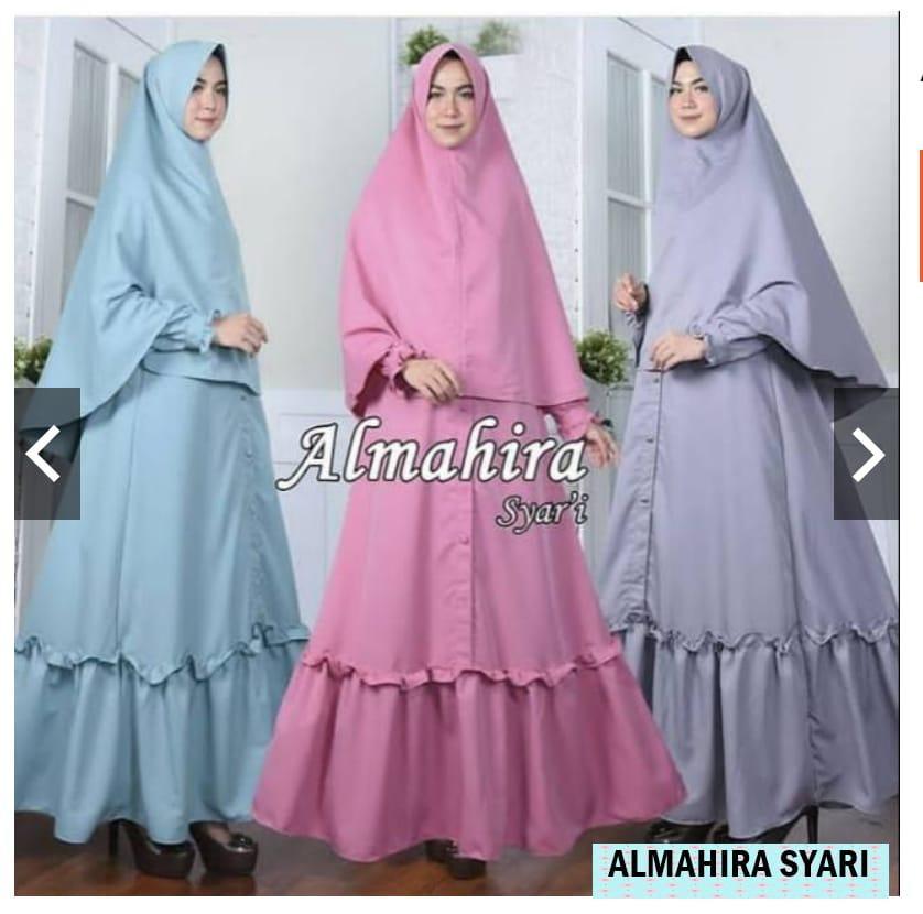 Fashion Muslim Almahira Syari Dress Balotelly Baju Wanita Gamis Baju Panjang  Gaun Pesta Murah Remaja Baju d4123e7448