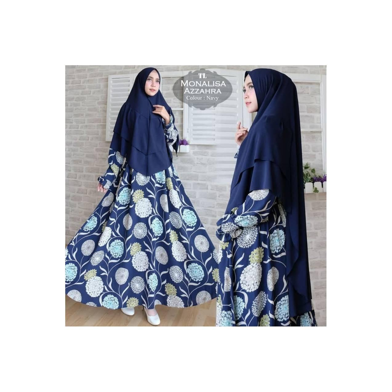 baju muslim biru navy dress gamis xxxl jumbo bigsize pesta xxl 2xl 3xl