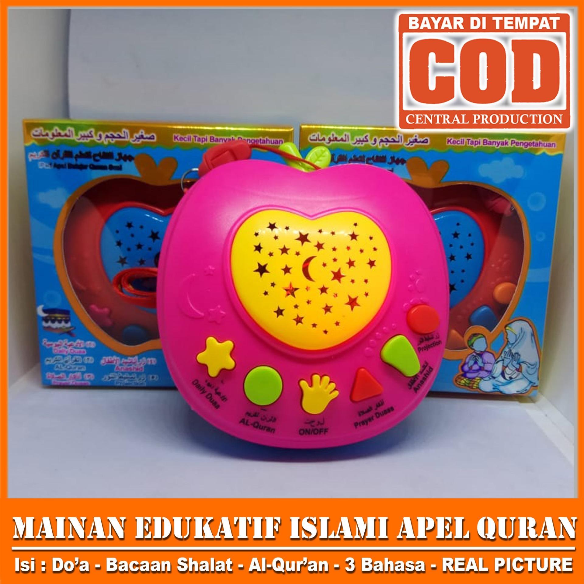 Mainan Anak Ipad Apel Mesin Quran / Al-Qur'an Anak Digital / Hafiz Model Apel FREE 3 pcs Baterai REAL PICTURE