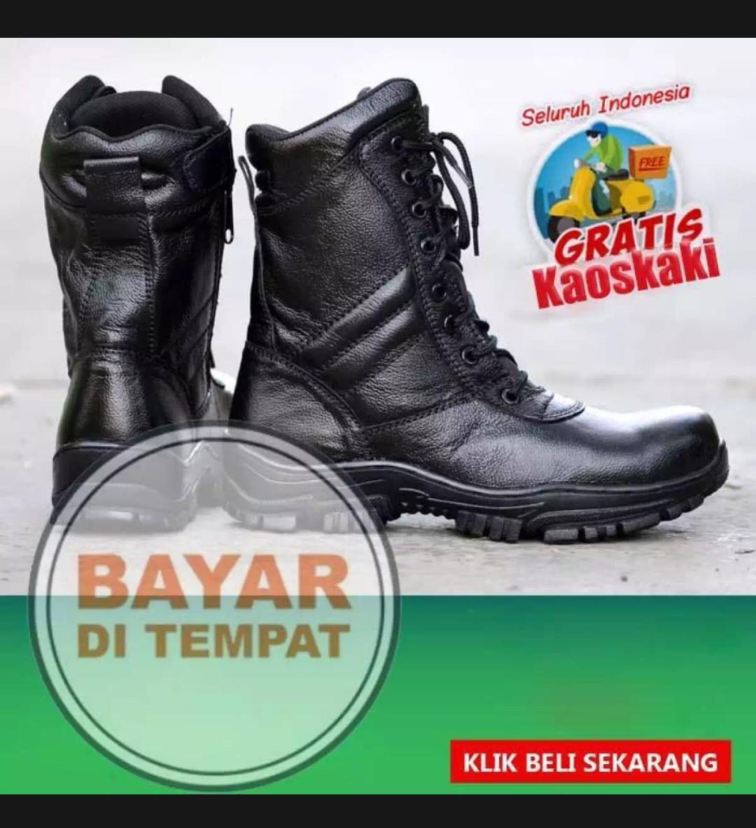 Sepatu PDL TNI AD Termurah JAFERI Sepatu Pdl Tni PDLG - Hitam   Sepatu Pdl  Delta 248f245f1b