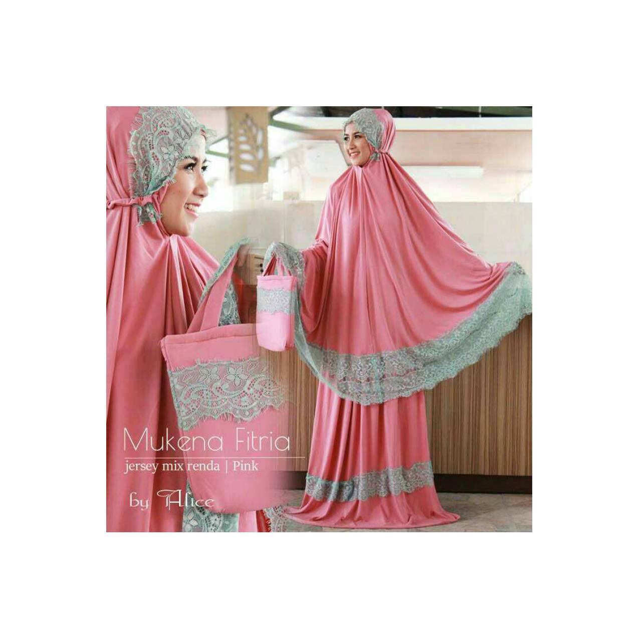 Mukena Fitria Pink khusus bln ramadhan/bisa untuk seserahan pernikahan
