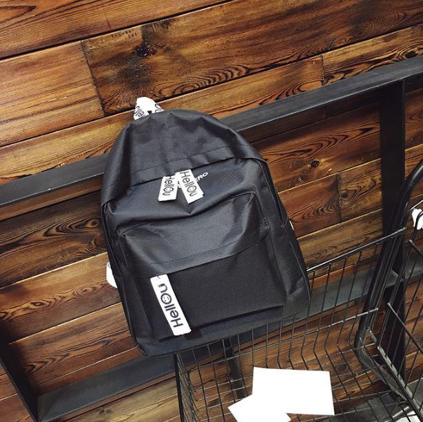 OILA tas ransel wanita hellou canvas female backpack bta398
