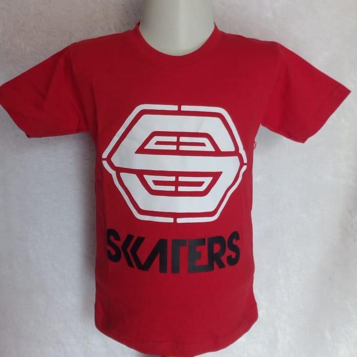 Kaos/Baju Anak Motif Distro SKATER Merah