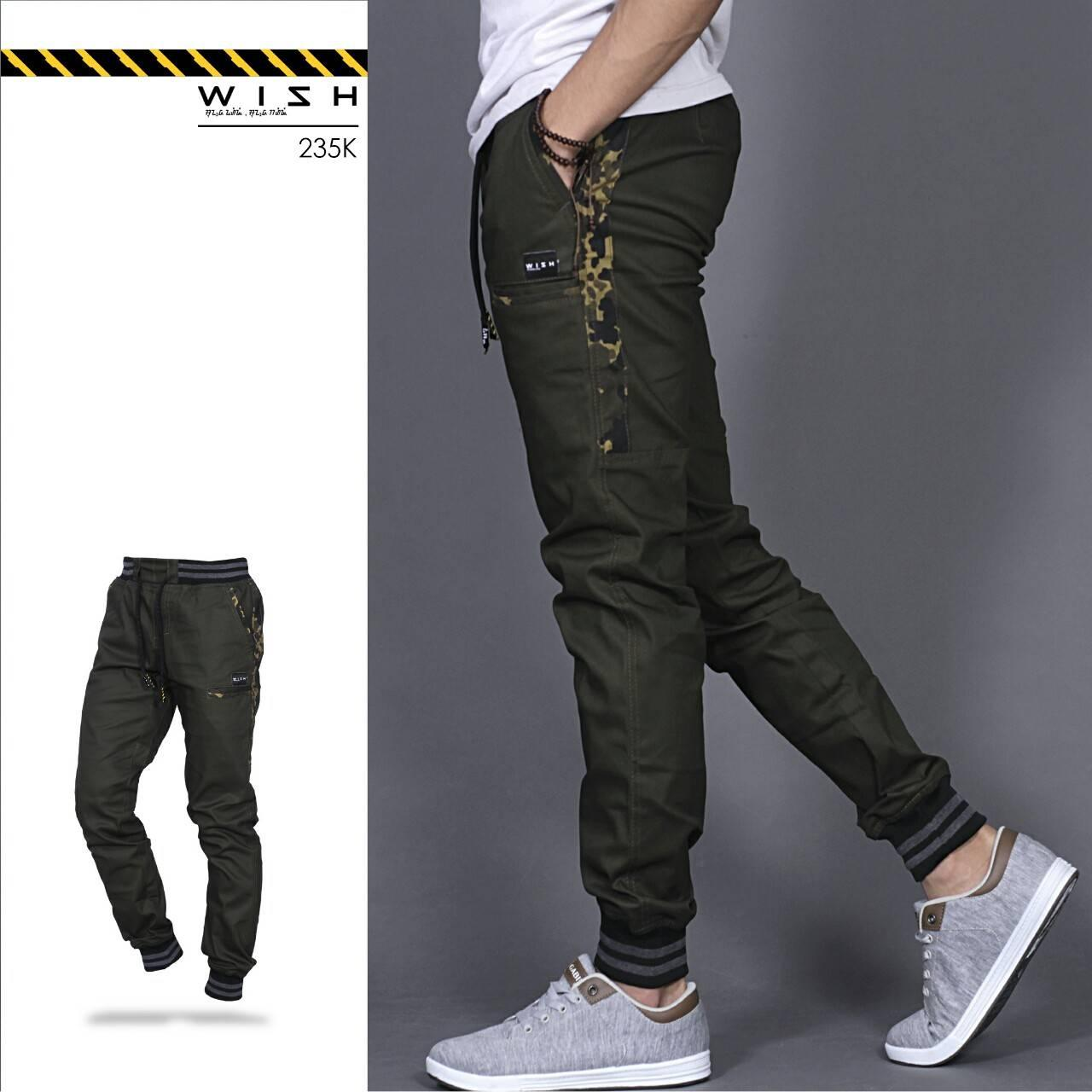 Celana Joger Pants Pria-Wish Jogger Side Camouflage Original By Raffastore_id.