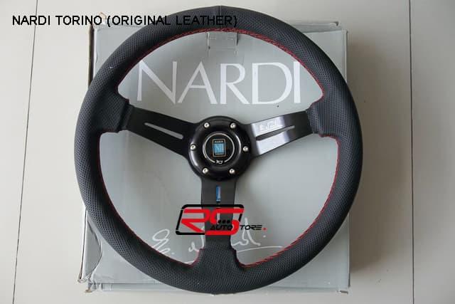Promo   Steering Wheel /Stir Racing Rep Nardi Torino bahan kulit,jahitan merah   Original