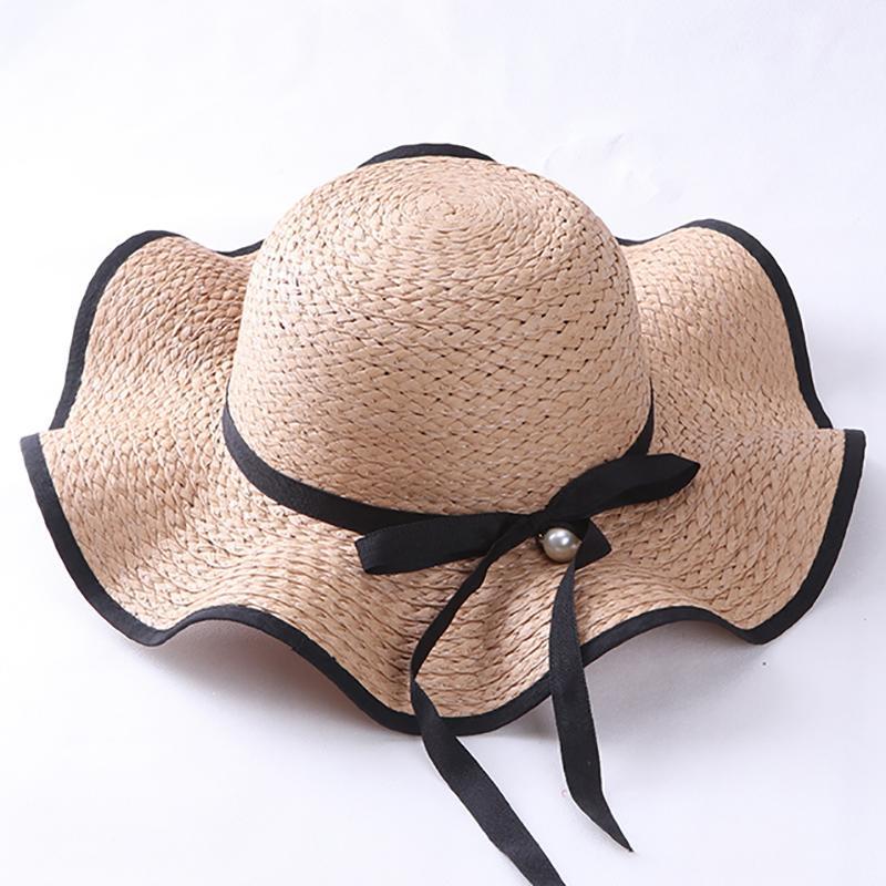 Musim Panas Perempuan Topi Pantai Topi Jerami (Model Dewasa (56-58 Cm) 60d8cfbe5c
