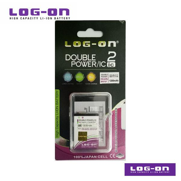 LOG-ON Battery For Alcatel 2051D FLIP - DoublePower & IC - Garansi 3 Bulan