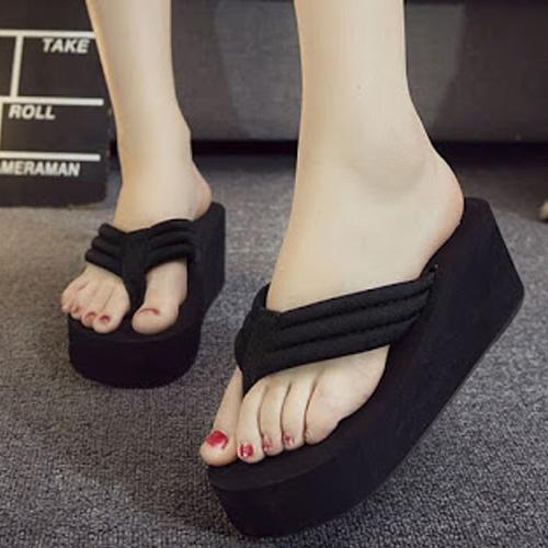 Ym Wedges Jepit Full By Ym Super Shopping.