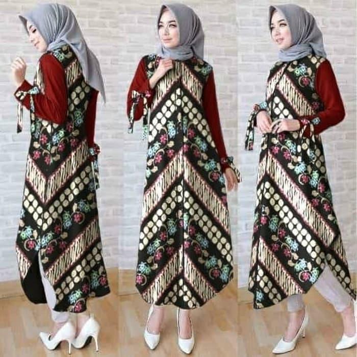 Baju Muslim Remaja Blus Tunik Batik Tunic Etnik Cantik Murah Mx Bat Tv