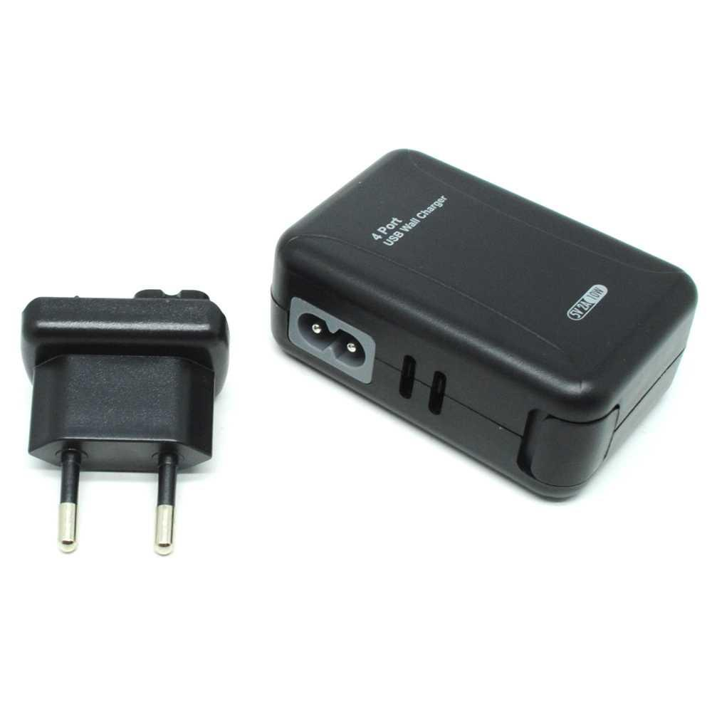 Thunder Traveler Charger 4 USB Port 5V 2A with Single EU Plugs HP Termurah