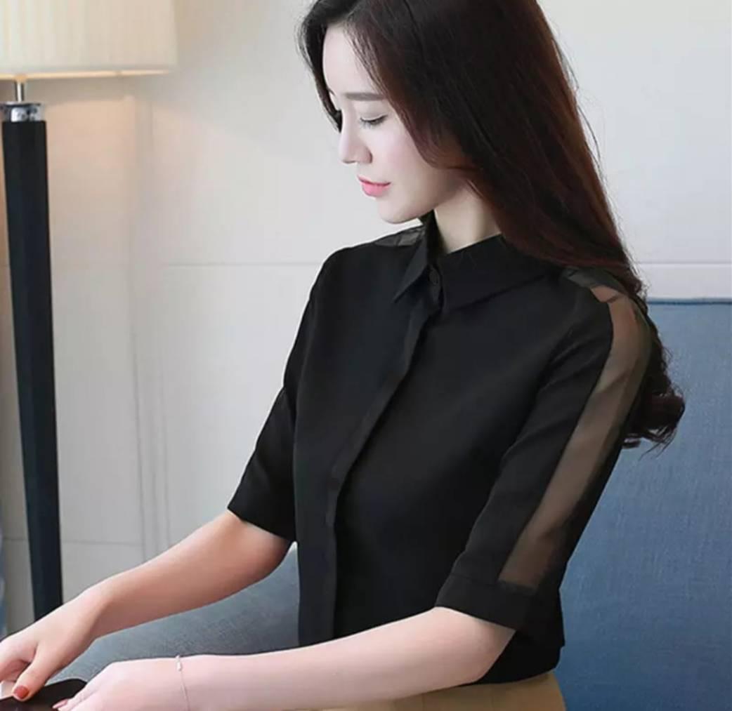 Fashionista Brand Kemeja Wanita Syantik Tile / Blouse Wanita / Kemeja Wanita / Kaos Wanita /