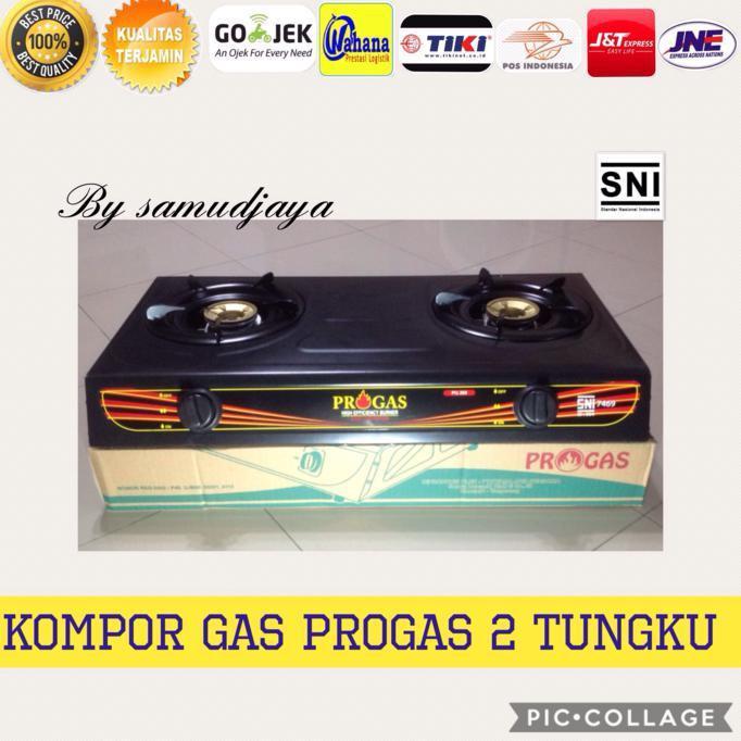 Alat Masak Kompor Gas Dua Tungku Progas Ber Sni Stok Terbatas !!