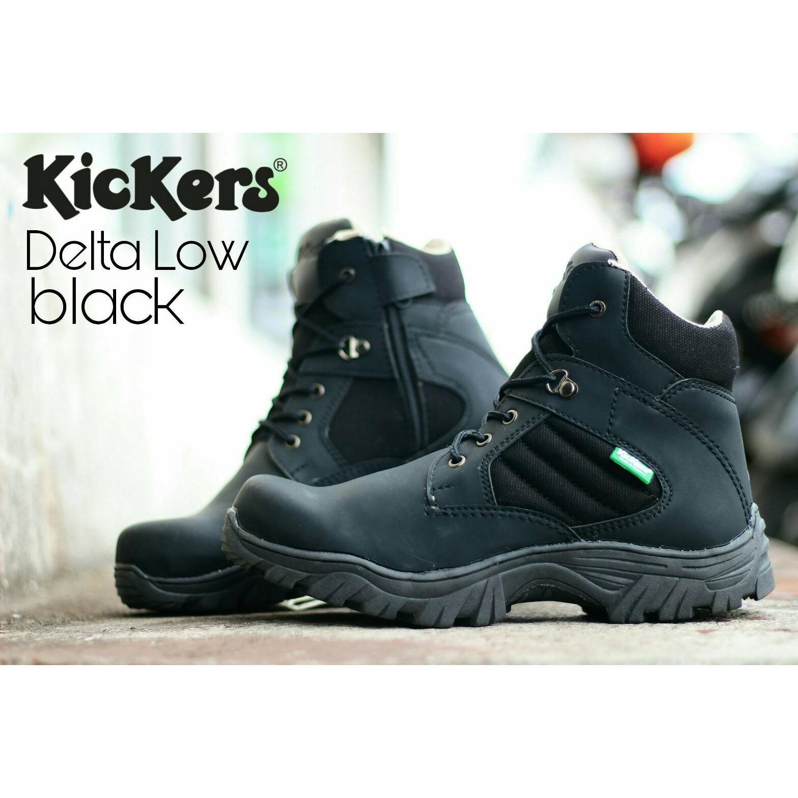 Sepatu Kickers Low Delta Safety Boots Ujung Besi Tracking Touring Motor Adventure Gunung Sepatu Haiking Outdoor Pdl Delta (Lokal)