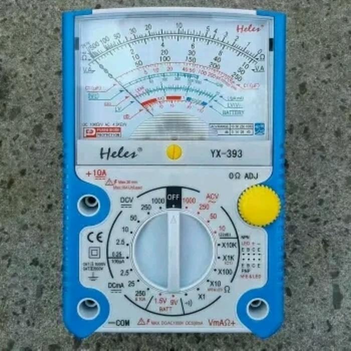 Promo Multimeter Multitester Avometer Analog HELES type YX 393 Casing Kuat Original