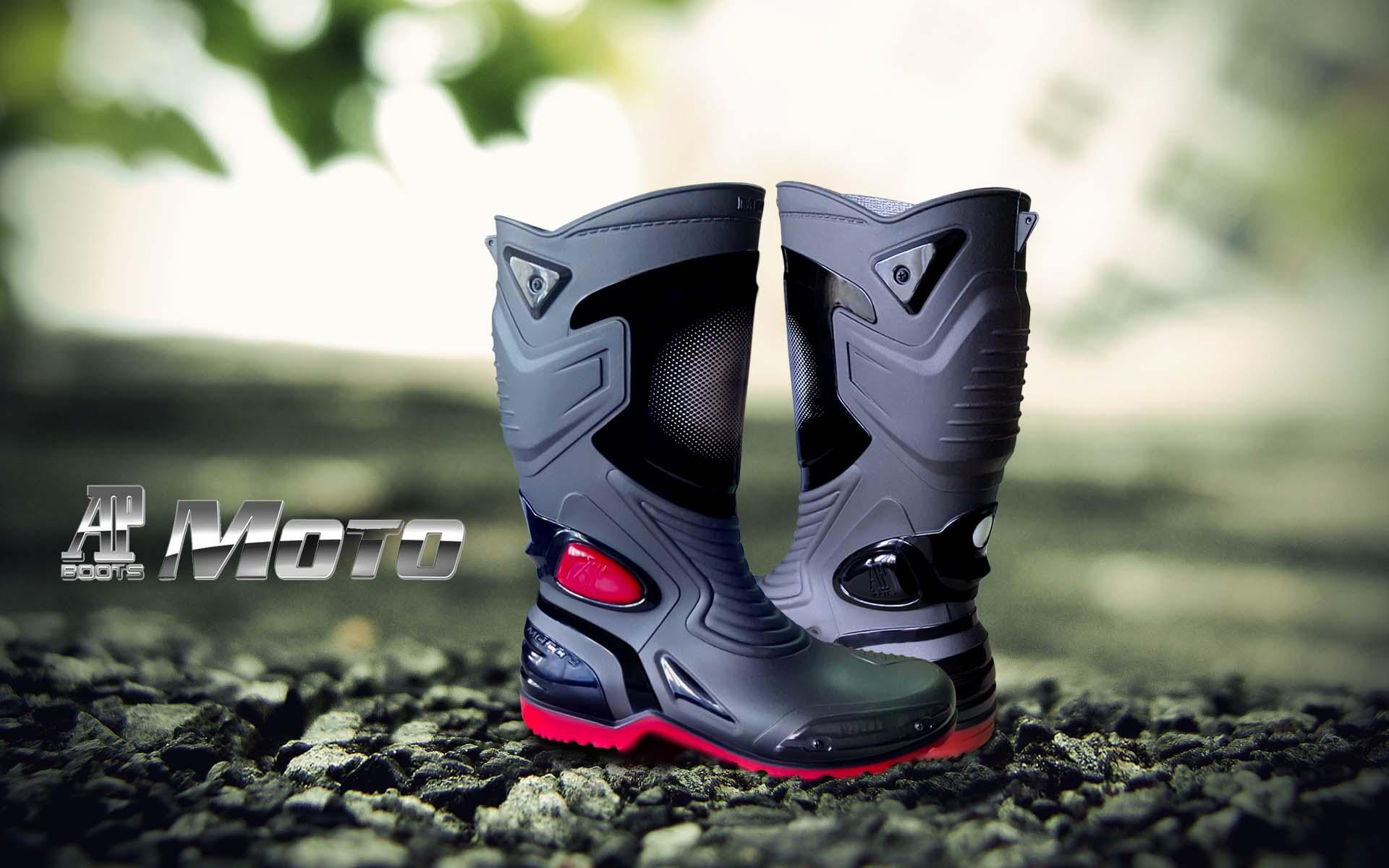 HOT DEALS!! Sepatu Karet PVC Anti Tembus Air Banjir Hujan AP BOOTS MOTO 3 MOTO3 - Hitam, 38 TERMURAH / MURAH / PACKING RAPIH / PENGIRIMAN CEPAT