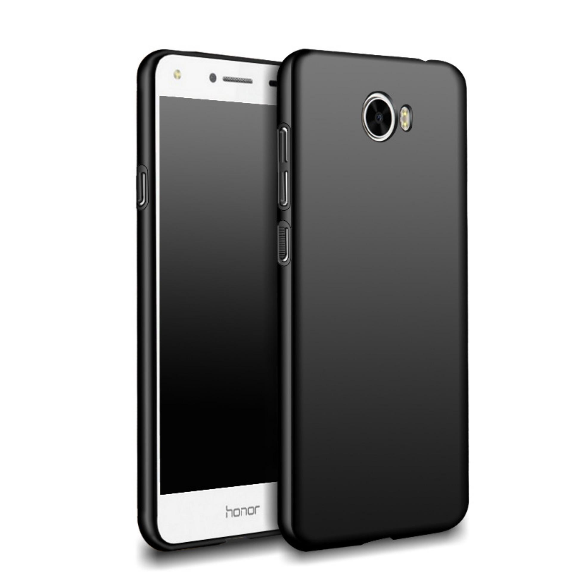 Case Slim Black doff Matte Anti minyak For Huawei Y5ii  - Black Doff