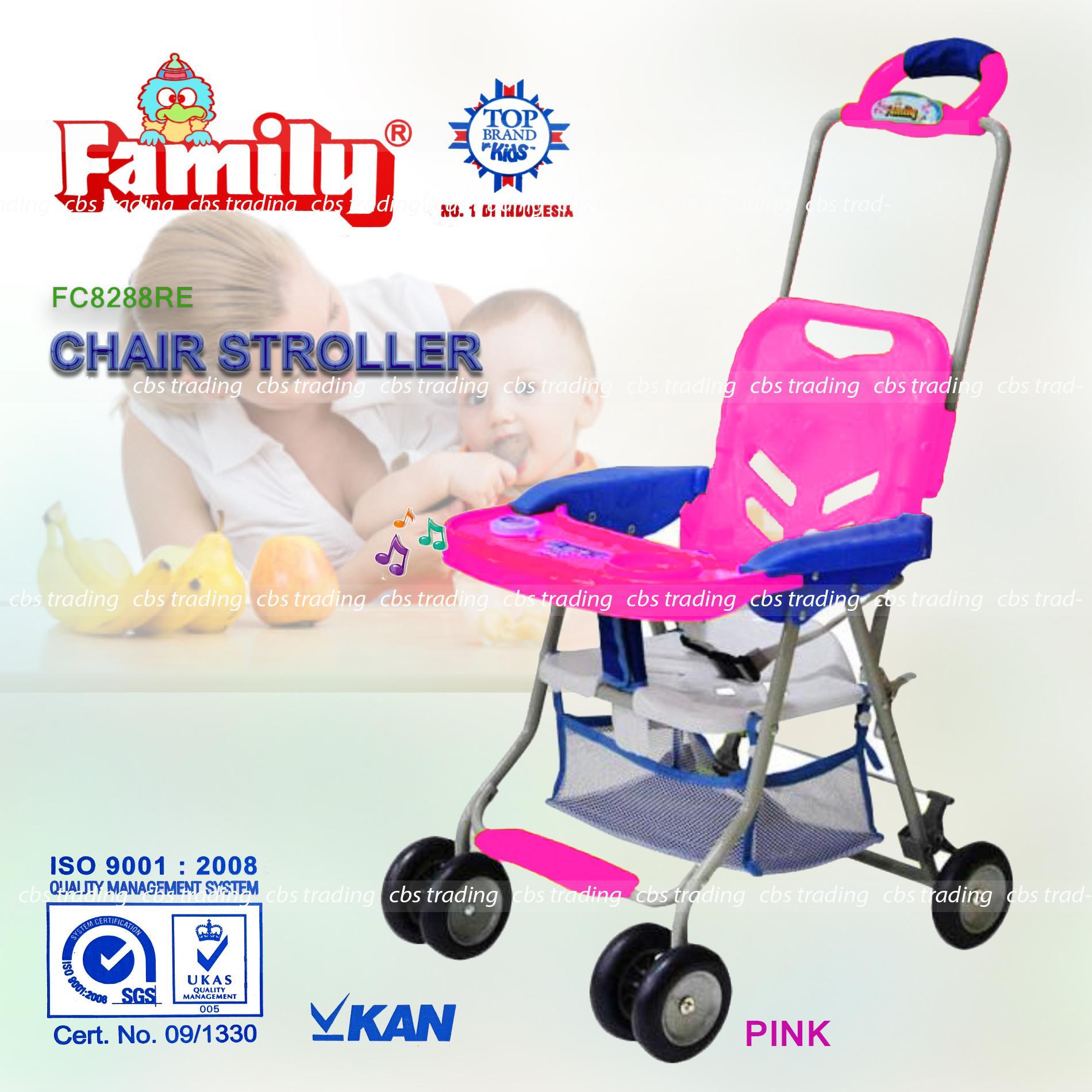 Family Chair Stroller 8288 - Kursi Makan - Baby Stroller - Pink