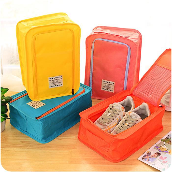 Korea Colorful shoes pouch travel ver 3 / Tas Sepatu / Bag Organizer / Tas Sandal