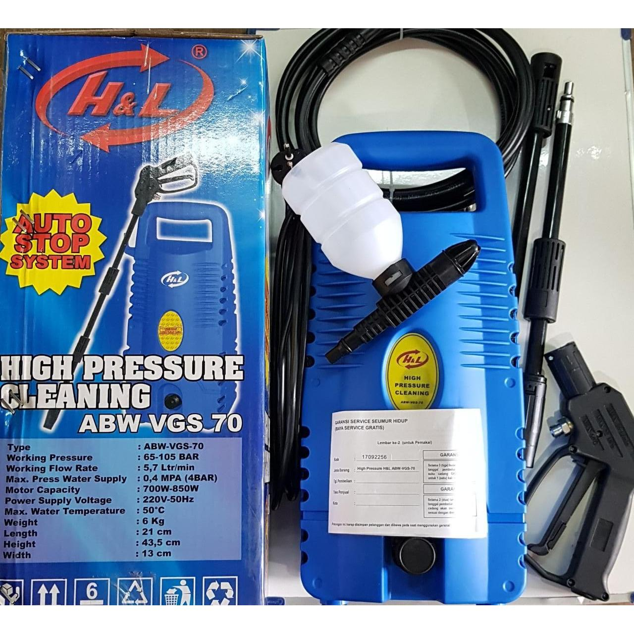 HnL Jet Cleaner High Pressure Mesin Steam Cuci Mobil AC skls laguna 70