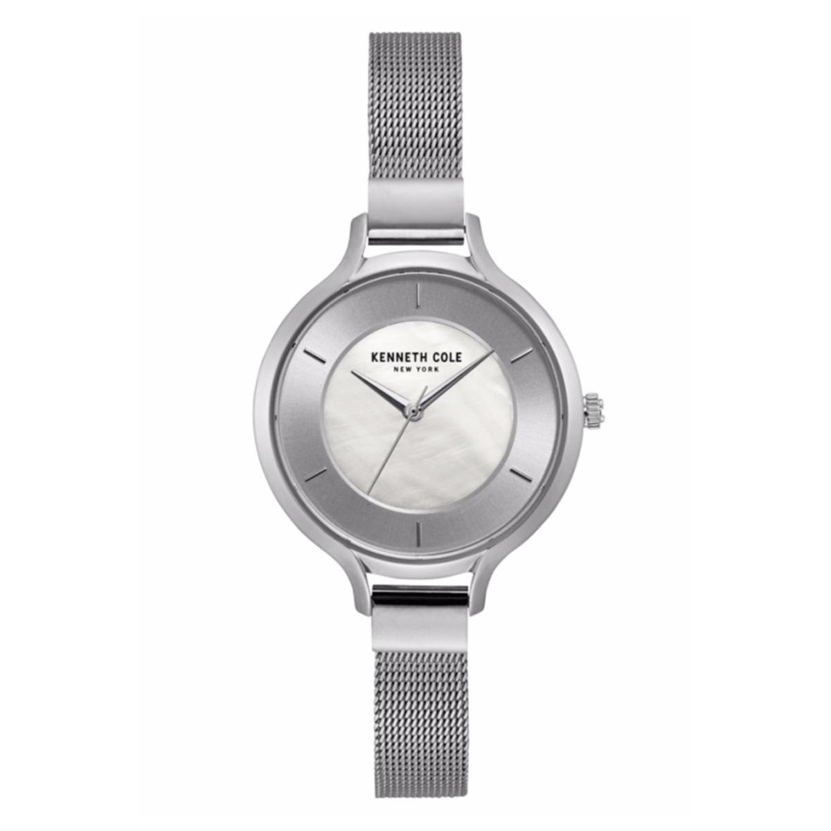 Kenneth Cole Kenneth Cole New York Silver Stainless-Steel Case Stainless-Steel Bracelet Ladies NWT + Warranty KC15187002