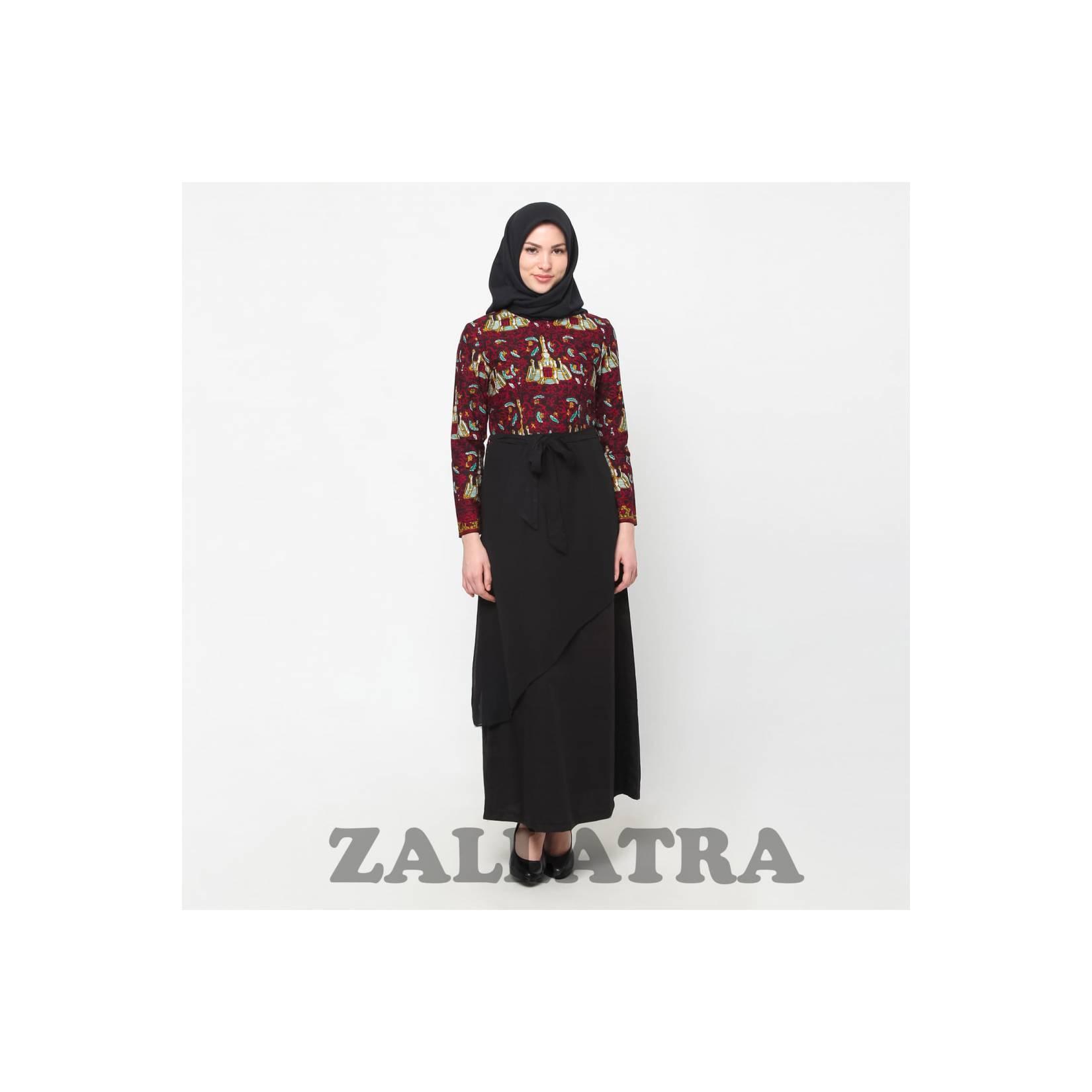 Gamis Batik Wanita Asli Jambi Berkualias - Zallatra GM04
