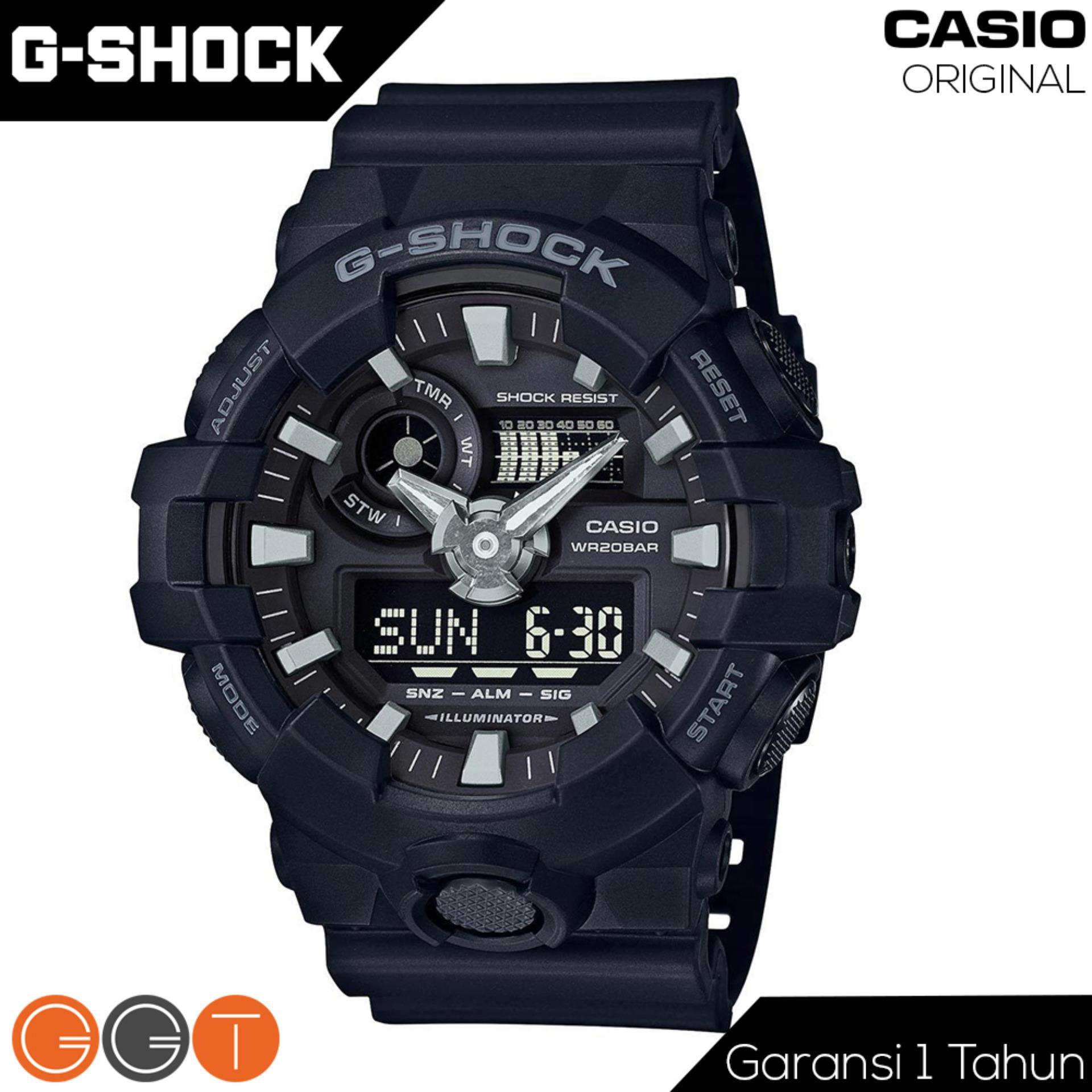 Casio G-Shock Dual Time - Tali Rubber Resin- Quartz Movement - Jam Tangan Pria - GA-700 Series