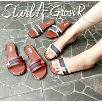 Pencarian Termurah Starla Grosir - Sandal Wanita Flat Shoes DG - 02 harga  penawaran - Hanya cd02a964c4
