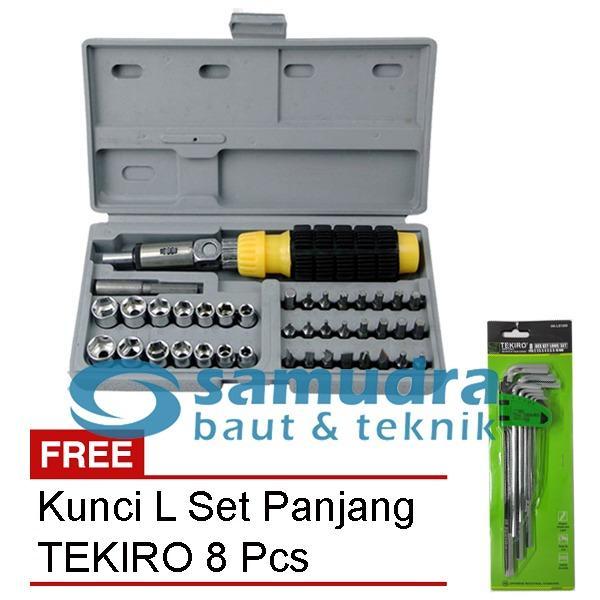 KENMASTER KUNCI SOK SOCK SET 41 PCS & TEKIRO KUNCI L SET PANJANG 8 PCS