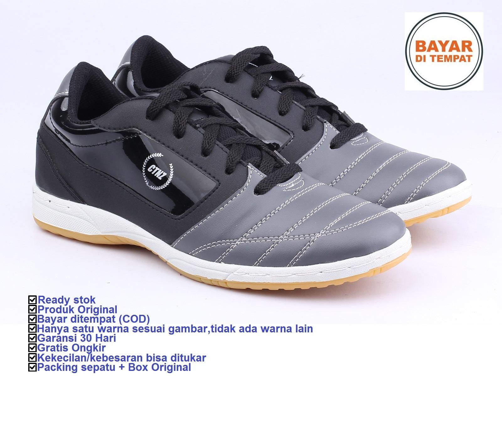 Catenzo Sepatu Futsal Bola Origin Synth DY039 Trendy Best Seller - Hitam
