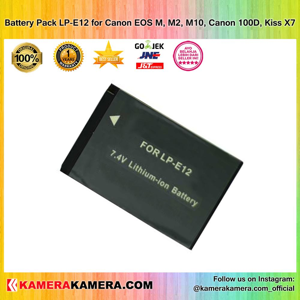Battery Pack LP-E12 for Canon EOS M, M2, M10, 100D, Kiss X7