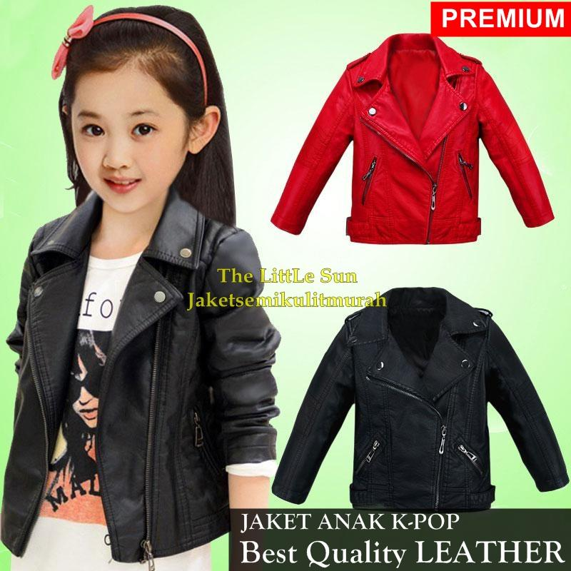 Jaket Kulit Anak Perempuan K-Pop Rock N Roll By The Little Sun Dinasty.