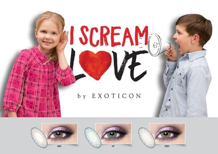 Softlens I Scream Love / Softlens By Exoticon