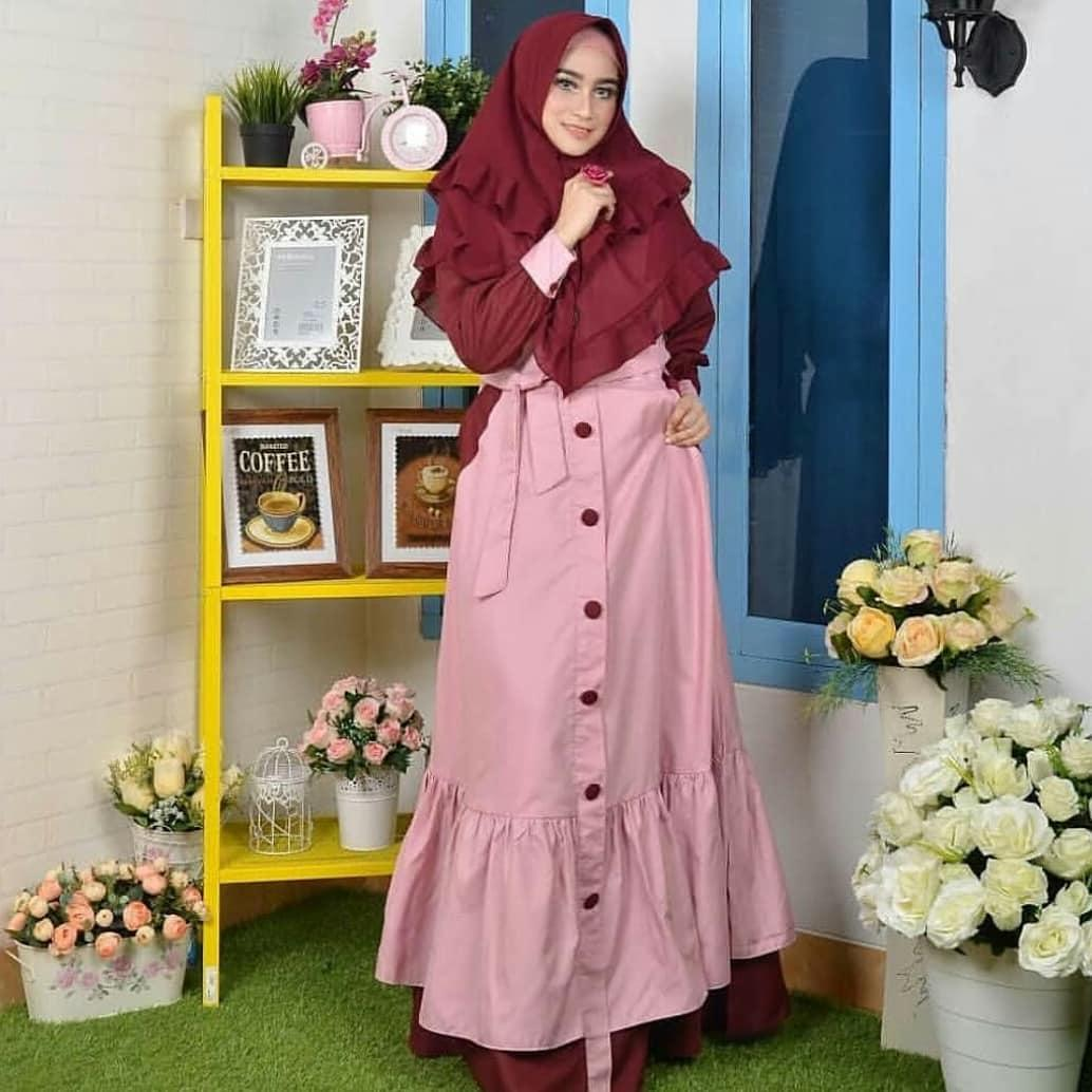 Baju Muslim Gamis Marisa Dress Ballotely